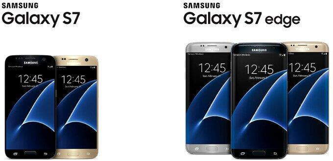 Популярность Samsung Galaxy S7