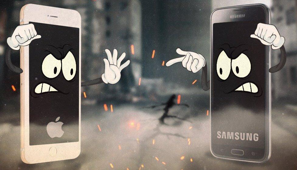 Соперники на веки Samsung vs Apple