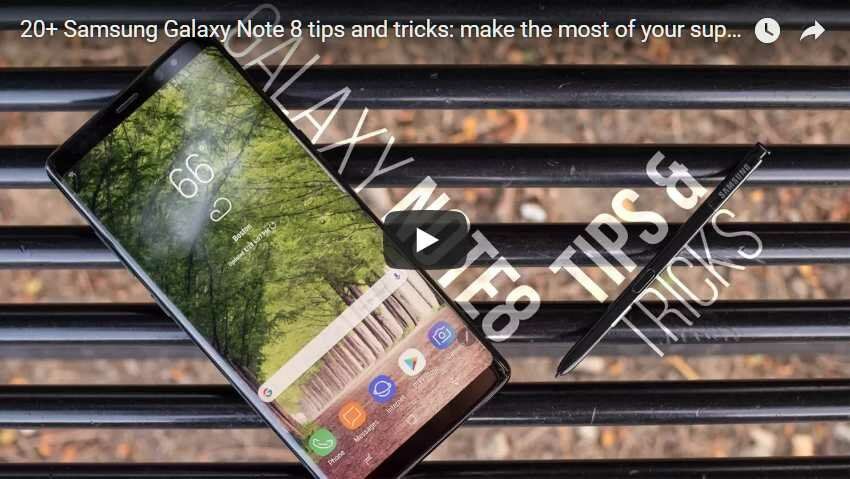 Samsung Galaxy Note 8 tips