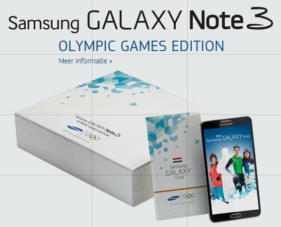 Samsung Galaxy Note 3 Olympic Games Edition специально к Олимпиаде в Сочи