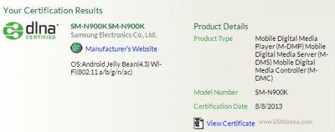3450 мАч - емкость аккумулятора Samsung Galaxy Note III